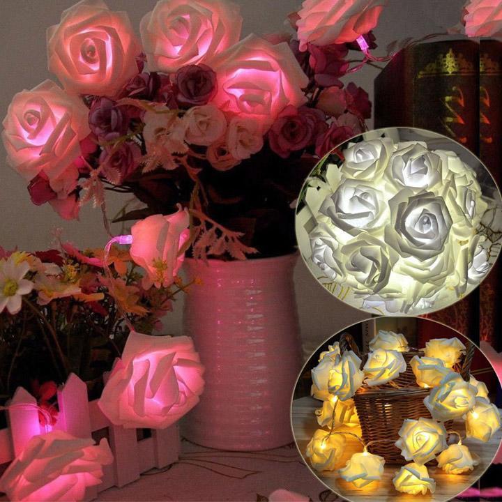 20 bianco caldo led a batteria rosa, fiore salotto camera da letto ...