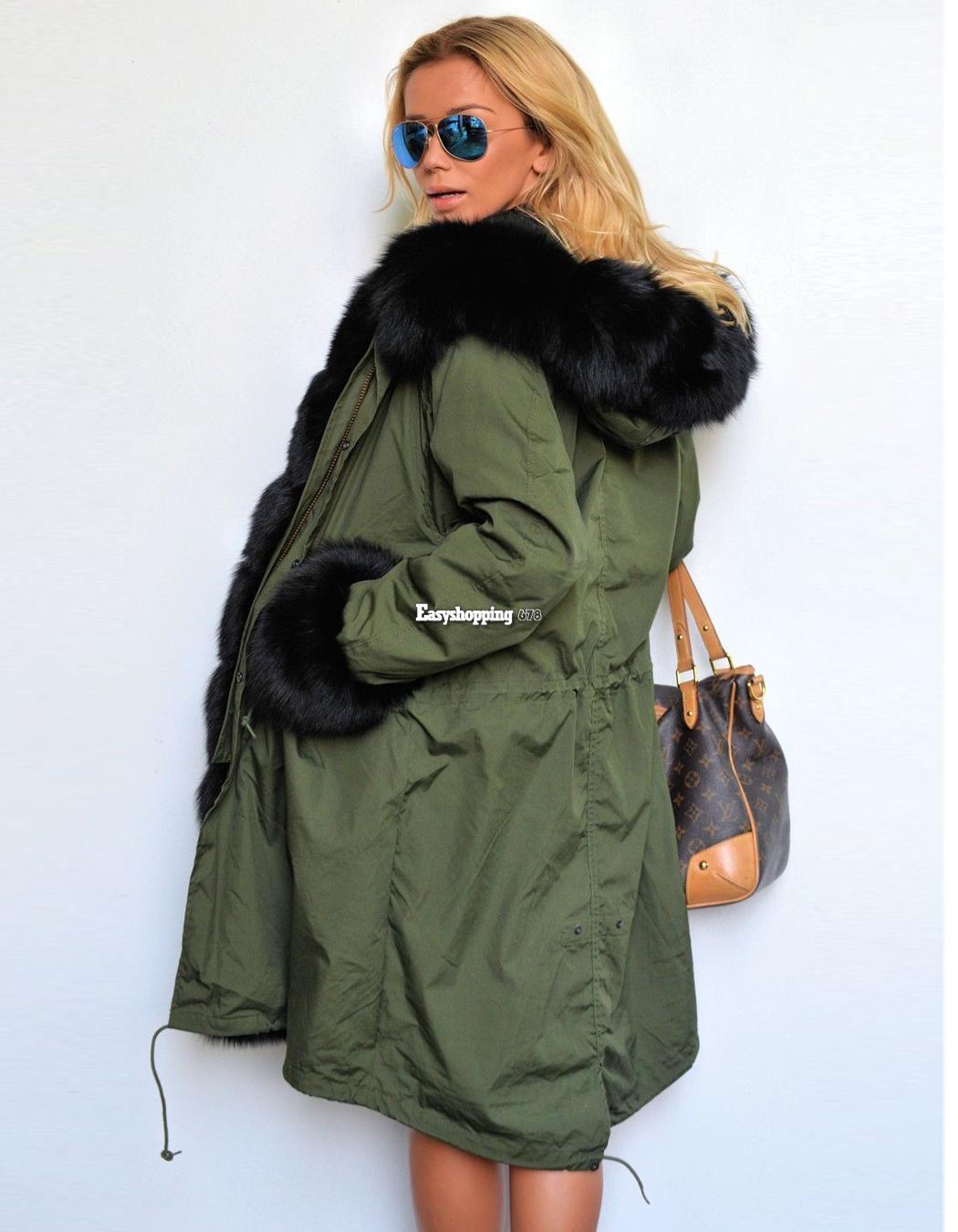 Veste kaki femme hiver