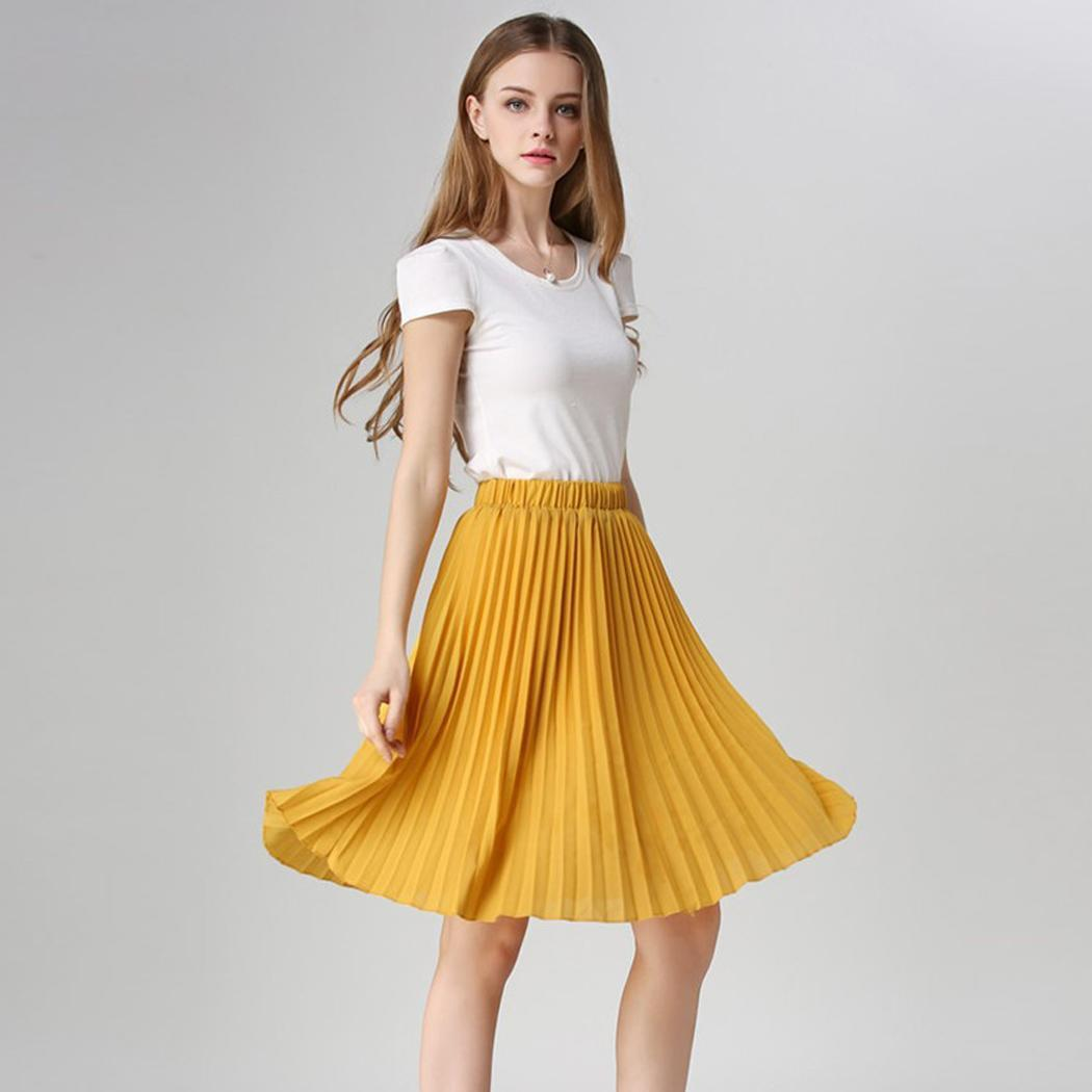 Ladies Womens Chiffon All Over Nieve Pleated Woven Casual Midi ...