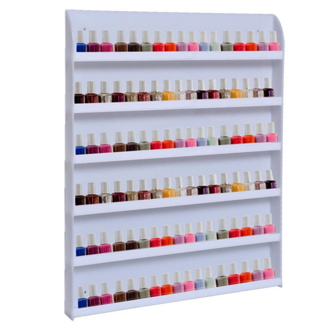 Beauty Makeup 90 Nail Polish Bottles Holder Wall Rack Organizer ...