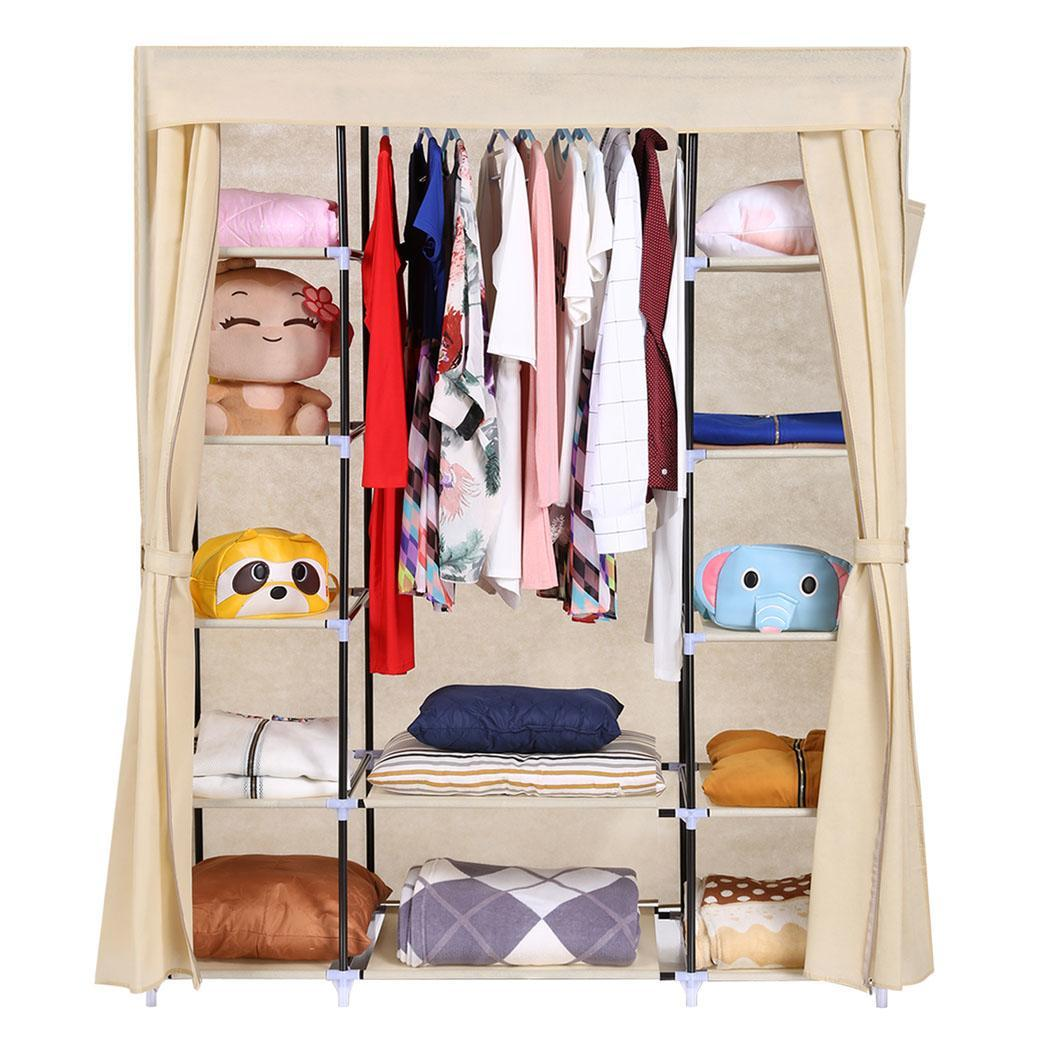 Accessories Furniture Portable Closet And Shoe Anizers Using Plastic Cover Added 5 Tier