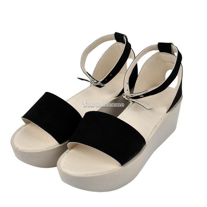 sh cool summer platform wedge ankle open toe