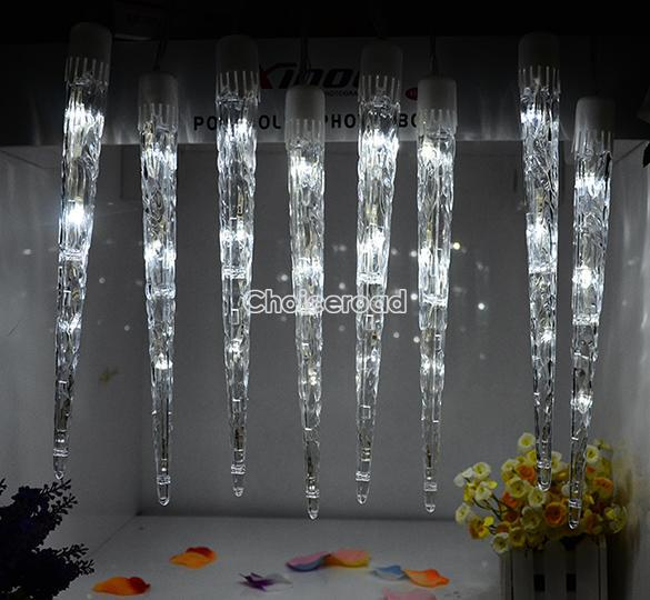 LED Icicle Light Tube Dripping Indoor/Outdoor Christmas ...