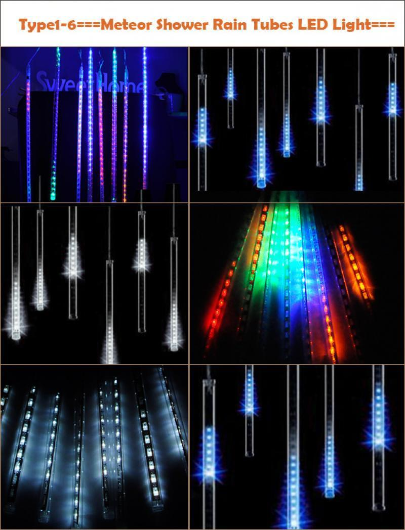 Led Icicle String Lights With Ice Drop : B5UT Meteor Shower Falling Star/Rain Drop/Icicle Snow Fall LED Xmas String Light eBay