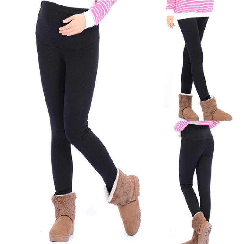 Best Maternity Leggings for Winter It's freezing outside – but since you're carrying a little heater in your belly, you may not be. Choose full-length leggings for winter, and if you DO need a little extra warmth opt for thicker materials or leggings with a warm lining.