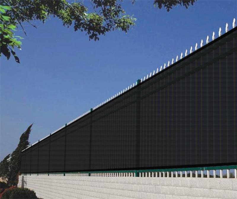 6x50 black fence privacy screen taped windscreen cover for Cloth privacy screen