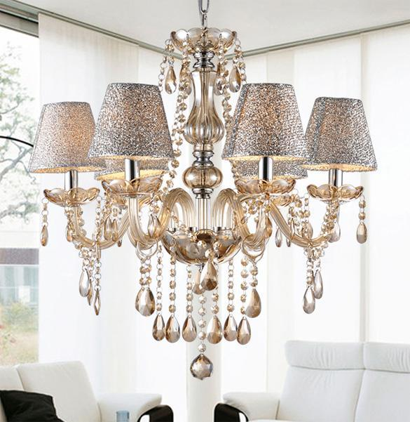 crystal chandelier light pendant lamp ceiling with shade dining room