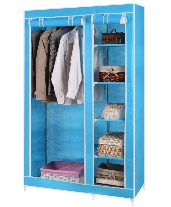 Portable storage closet hanging clothes shoes hat home for Hat organizer for closet