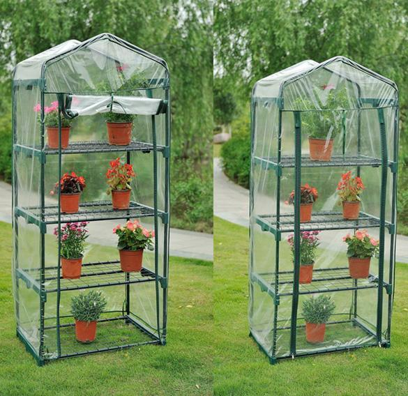 Portable Greenhouse Replacement Cover : Shelves greenhouse portable mini green grow hot house