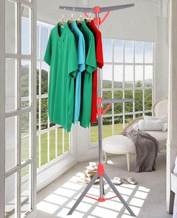 Foldable Adjustable Height 2 Tier Tripod Air Clothes