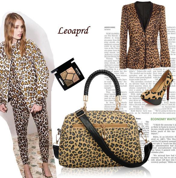 Femmes Sac Main Cuir Synth Tique Imprim L Opard Paillette Sequin Bandouli Re Ebay