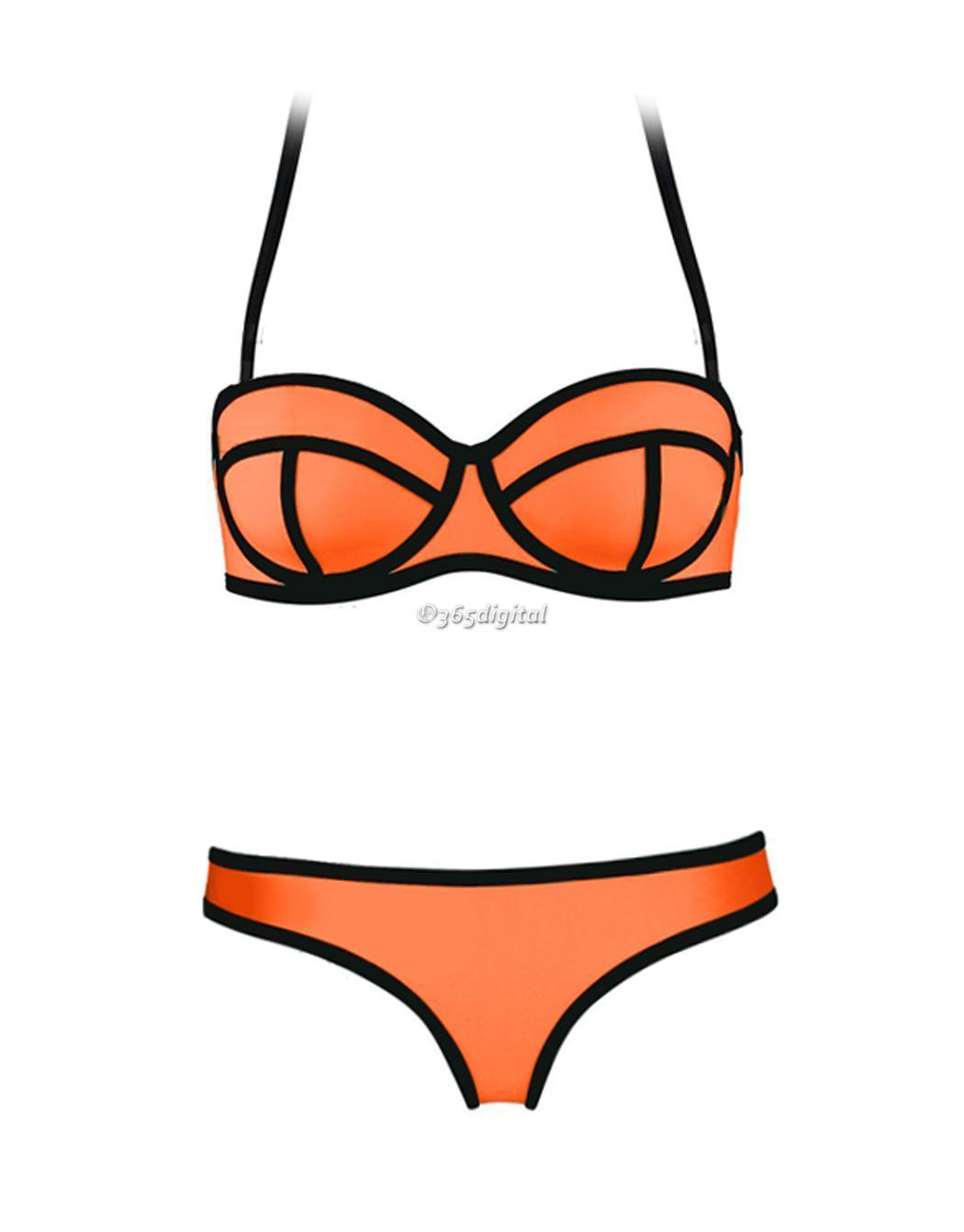 damen bandage bikini set push up gepolsterter bh badeanzug. Black Bedroom Furniture Sets. Home Design Ideas