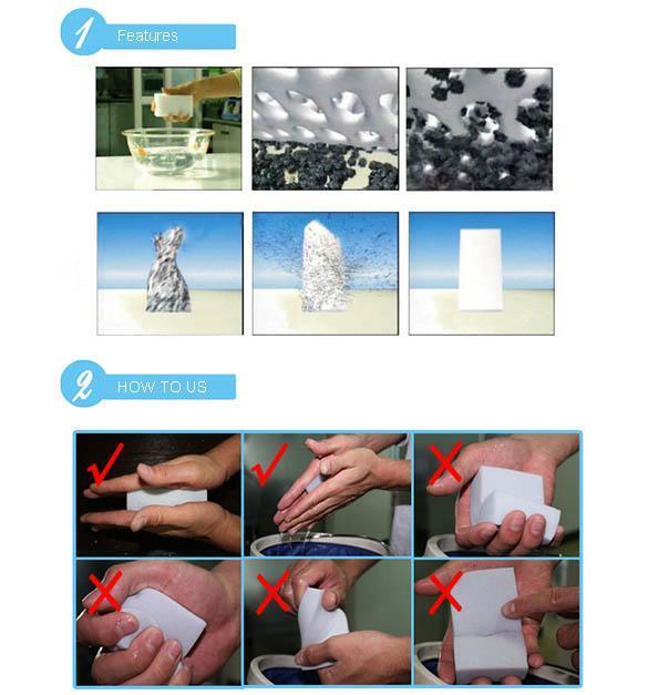 100x nettoyage magic ponge effaceur m lamine nettoyeur multifonctionnel mousse ebay. Black Bedroom Furniture Sets. Home Design Ideas