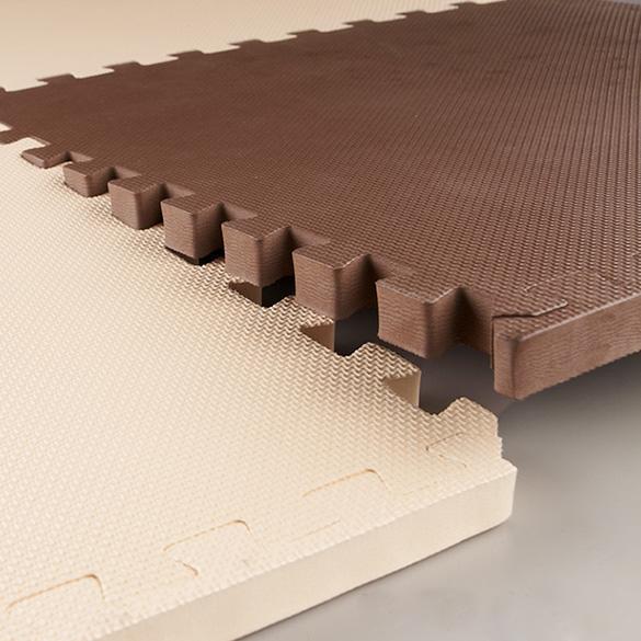 Set Of 6 Interlocking Padded Tiles 24 Sq Ft Foam Exercise