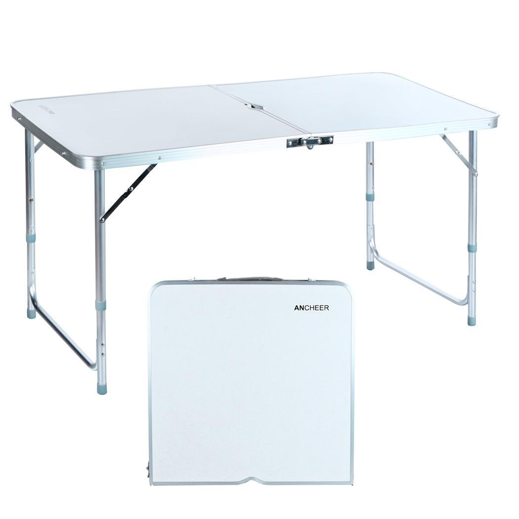 Height adjustable folding table outdoor portable aluminum - Camping table adjustable height ...