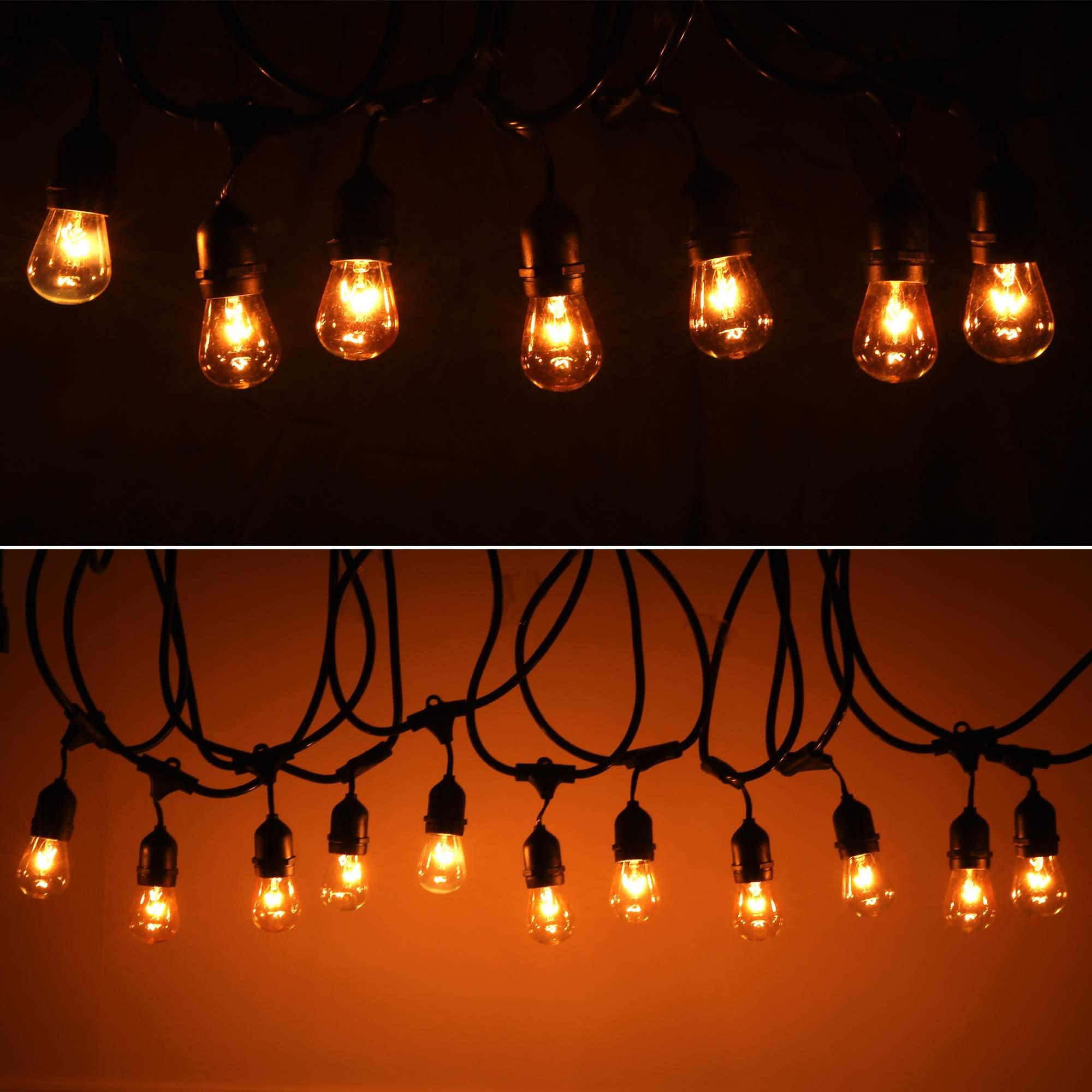 48 Foot Vintage Indoor Outdoor Patio String Lights 15x E26 Bulbs Included EHE8 eBay