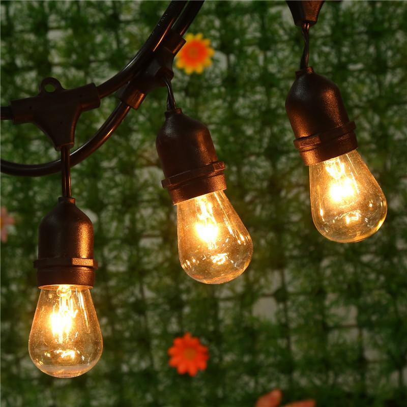 Bulb String Lights Indoor : 48 Foot Vintage Indoor Outdoor Patio String Lights 15x E26 Bulbs Included EHE8 eBay