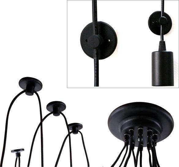 Outdoor String Lights With 15 E26 Sockets By Deneve : Outdoor E26 Sockets - 15 Bulb 48 FT Long String Lights/10 Bulb Spider Chandelier eBay