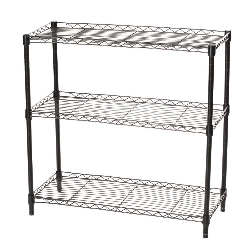 Metal Wire Shelving : Tier shelf adjustable steel metal wire shelving rack