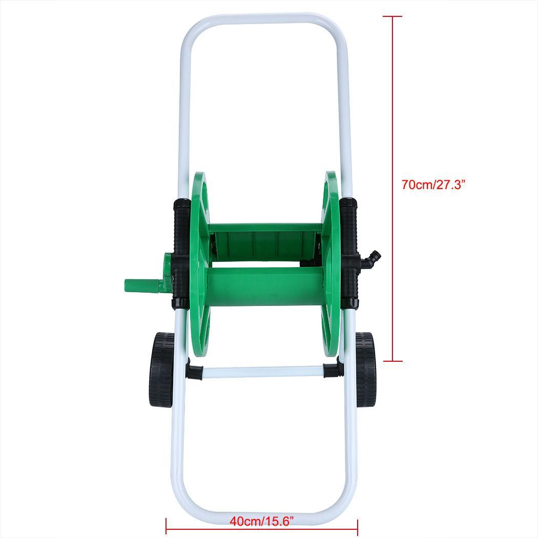 Pro 45m Hose Reel Garden Watering Pipe Holder Cart Easy