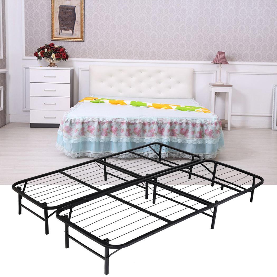 platform metal bed frame mattress foundation bedroom furniture ebay