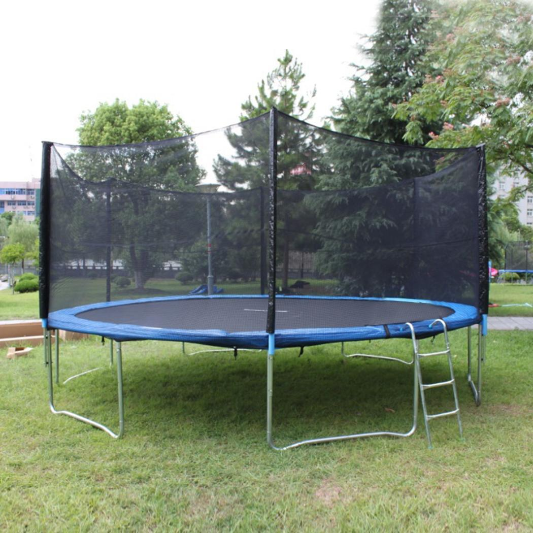 New 14ft Trampoline Combo Bounce Jump Safety Enclosure Net: 12'Trampoline Bounce Jump Safety Enclosure Net Netting Fit