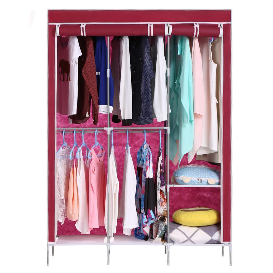 Large Portable Closet : New large size portable wardrobe closet clothes storage