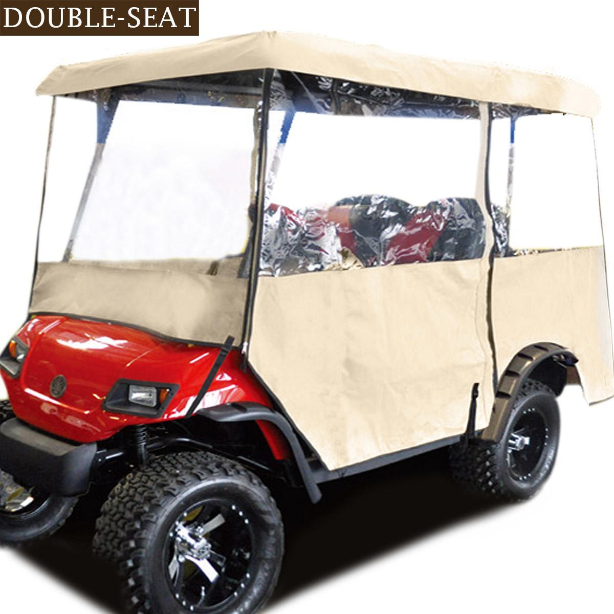 New Windproof Drivable 2 Person Golf Car Cart Cover