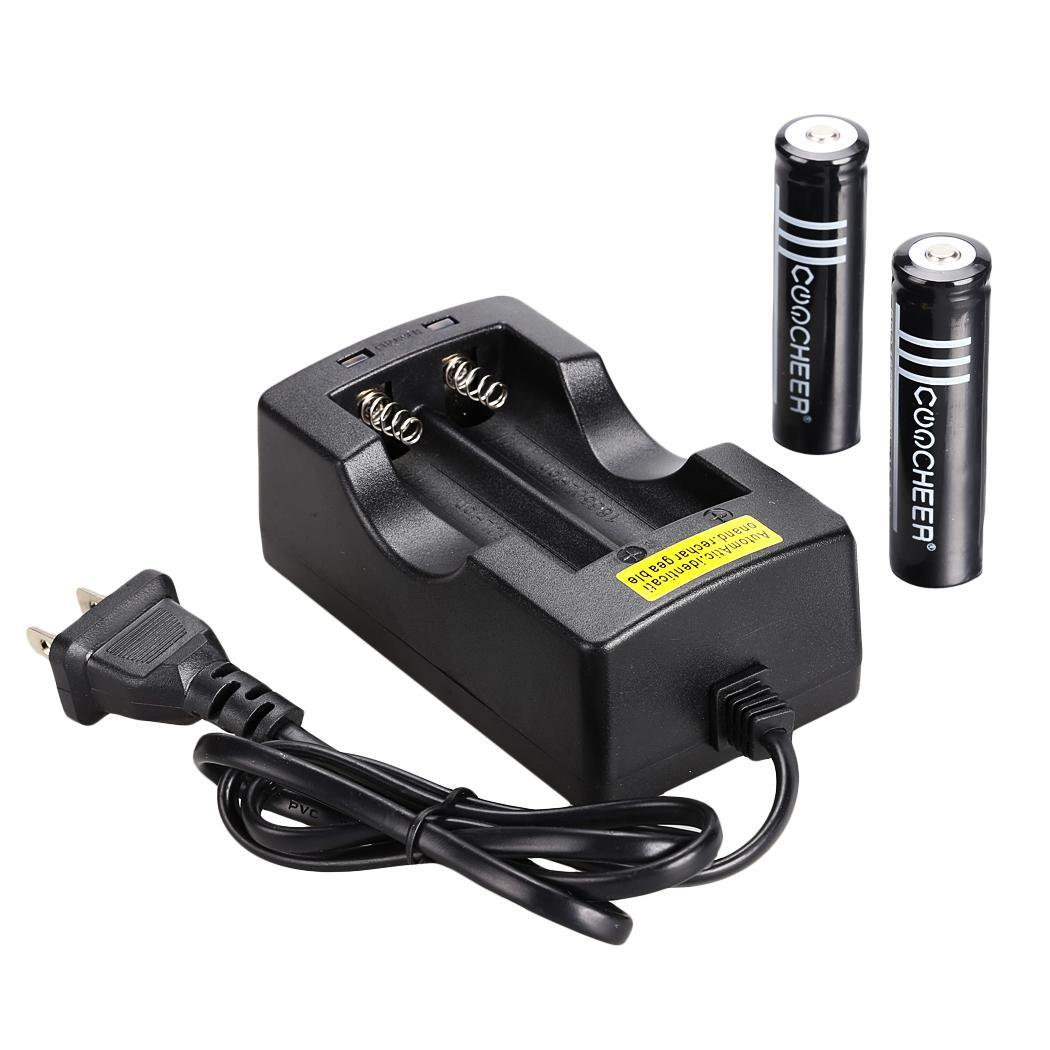 Sale 2x18650 3.7V Li-ion Rechargeable Battery +AC Charger 2 Slot US ...