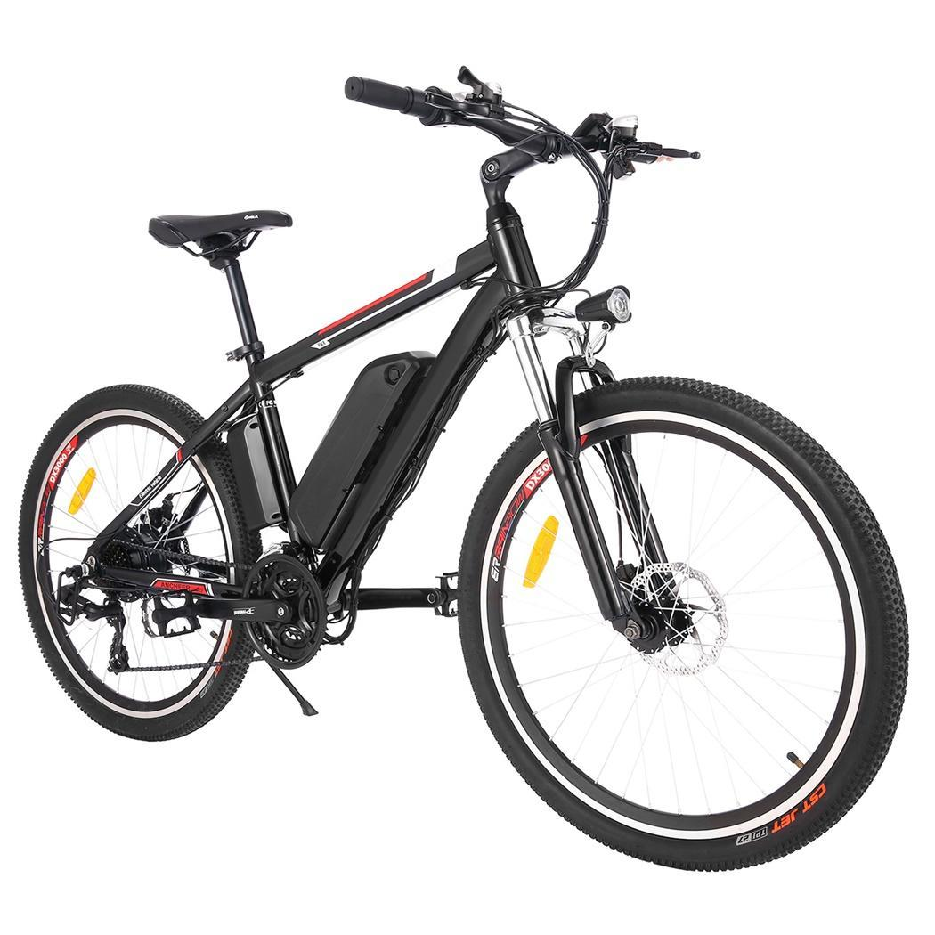 ancheer black electric mountain bicycle ebike lithium 250w. Black Bedroom Furniture Sets. Home Design Ideas