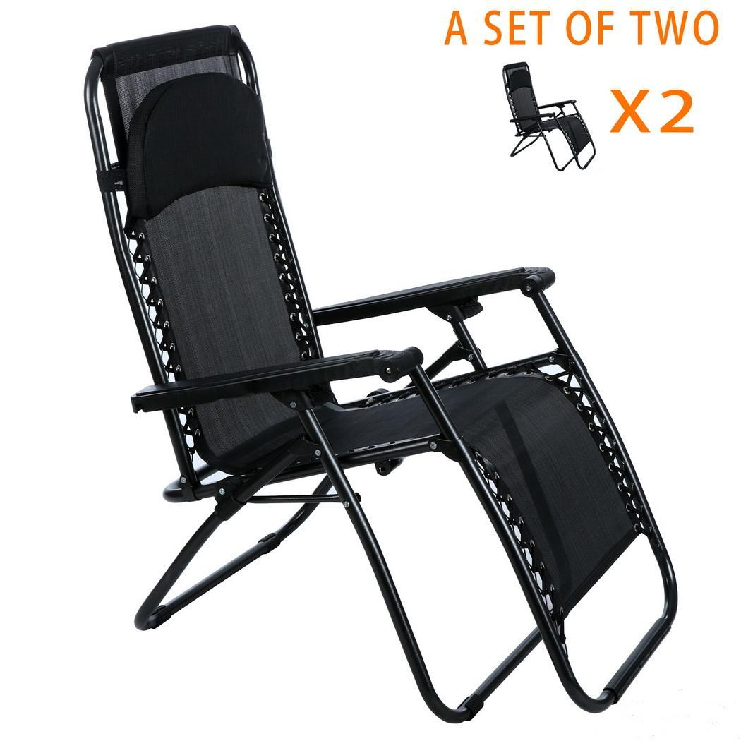 Outdoor Zero Gravity Lounge Chair Beach Patio Folding Recliner High Quality E