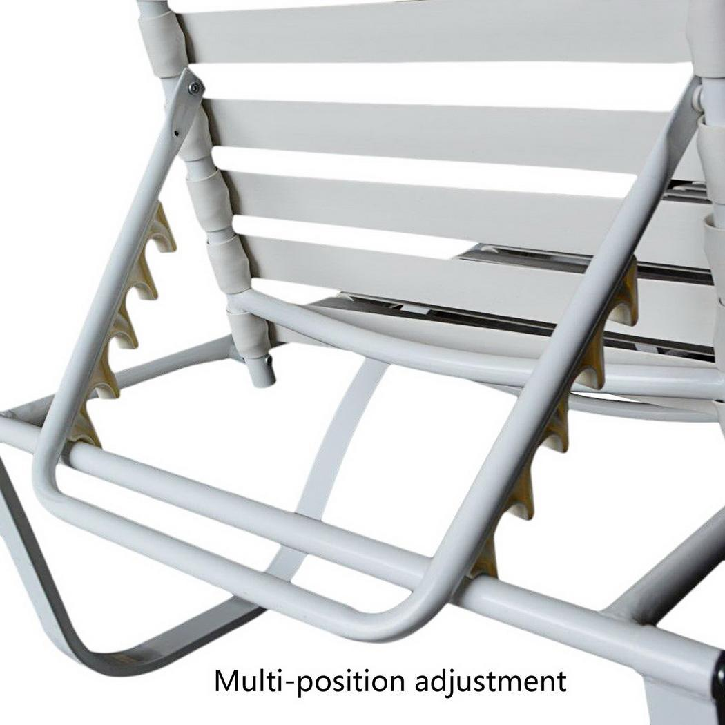 Steel frame aluminum stackable patio chaise lounge chair for Aluminum frame chaise lounge