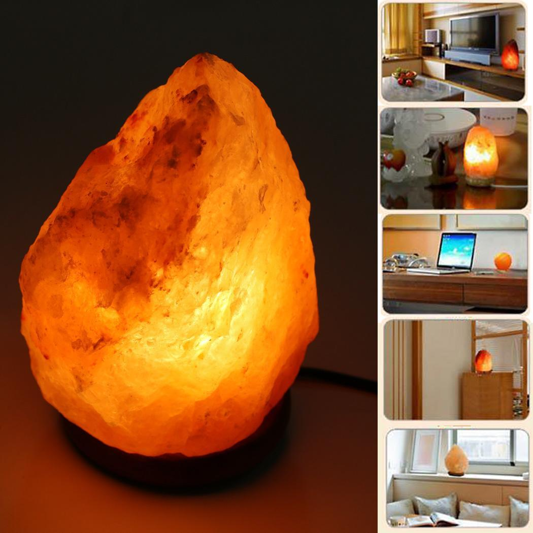 Salt Lamps Importers Germany : Lamp w Himalayan Salt Crystals Rock , Natural Air Purifying, Dimmer Bulb