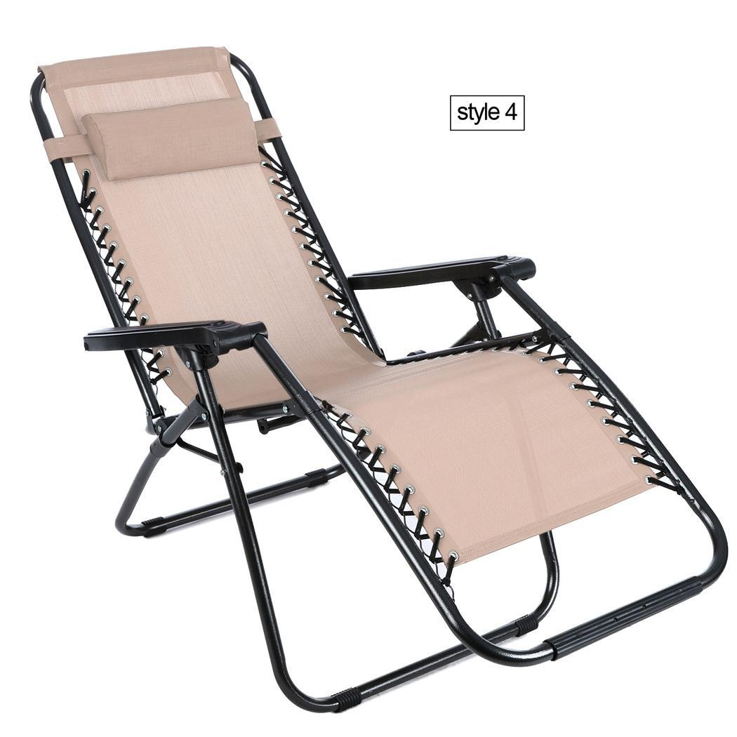 Heavy Duty Oversized Zero Gravity Textoline Lounge Chairs
