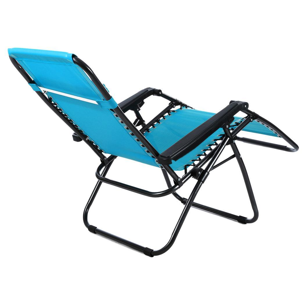 Heavy duty oversized zero gravity textoline lounge chairs outdoor patio recliner ebay - Oversized zero gravity lounge chair ...