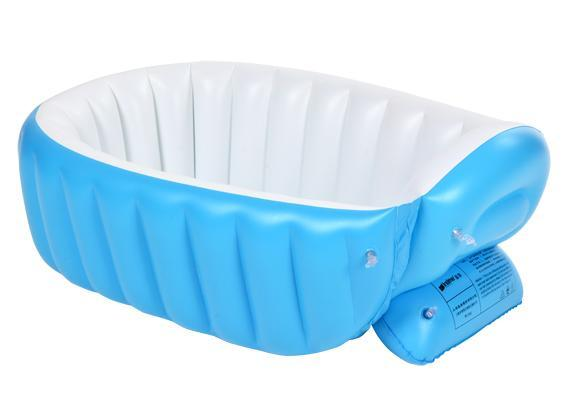 new born baby blue bath tub soft inflatable design bathtub foldable fast ship ebay. Black Bedroom Furniture Sets. Home Design Ideas