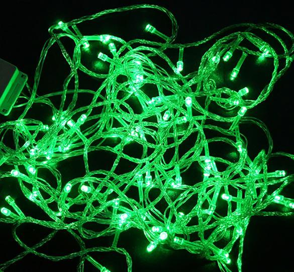 String Lights That Twinkle : 10M 100 LED Fairy String Lights Bulb Green 110V Christmas Twinkle Party W3LE