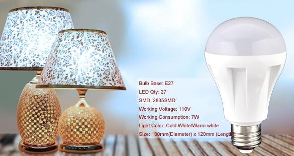 cyber led light white energy efficient bulb lamp 110v 7w. Black Bedroom Furniture Sets. Home Design Ideas