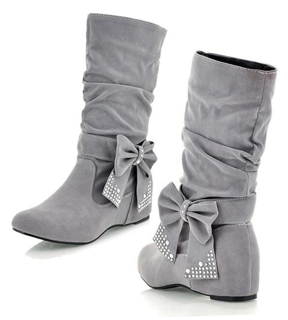 cyber fashion winter snow autumn ankle boots bow shoes