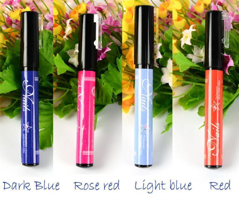 Fashion Nails Tools 12colors Nail Art Polish Pen For: New Nail Art Pen Painting Design Drawing For UV Gel Polish