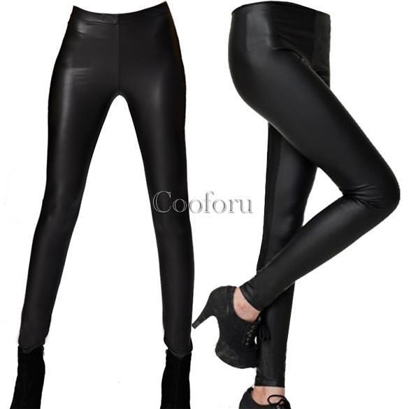 neuf pour femmes fille dame faux cuir pantalon crayon noir pantalon fin legging ebay. Black Bedroom Furniture Sets. Home Design Ideas