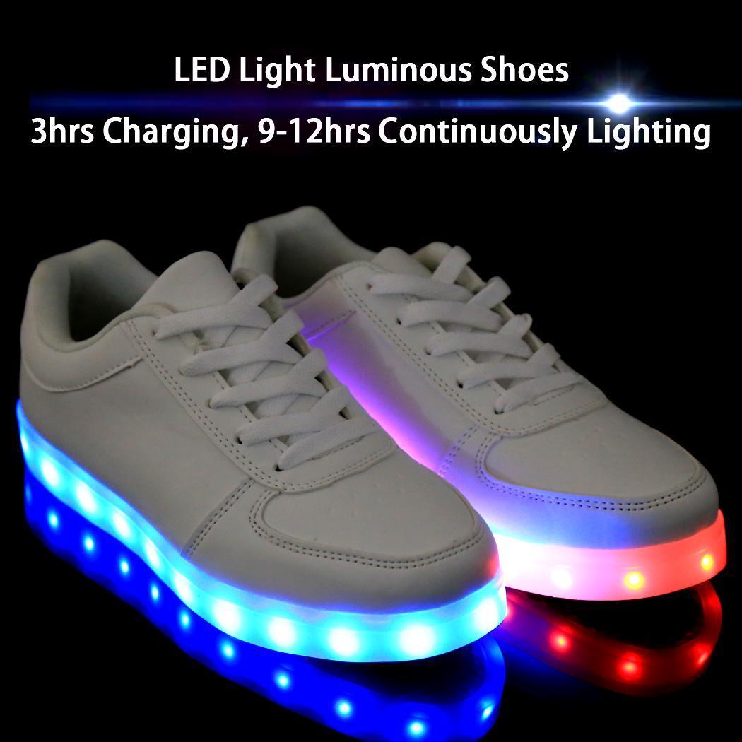 unisex herren damen led schuhe leuchtend blinkschuhe shoes. Black Bedroom Furniture Sets. Home Design Ideas