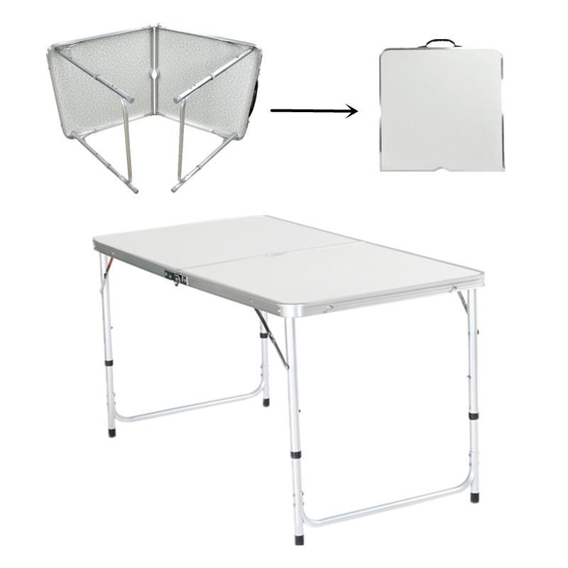 Large hdpe height adjustable folding table party dining camping waterproof eh7e ebay - Camping table adjustable height ...