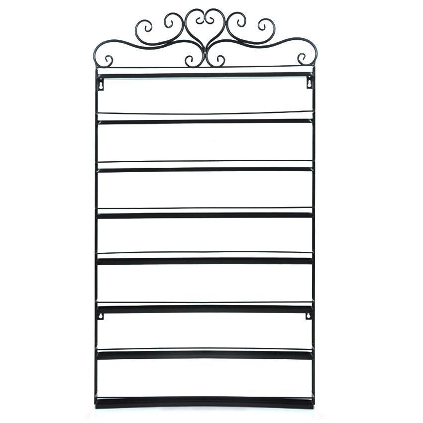 8 tier heart black metal nail polish display wall rack fit up to 152 bottles ebay. Black Bedroom Furniture Sets. Home Design Ideas
