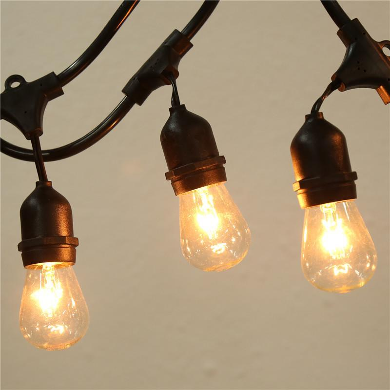 String Lights E26 : 48 Foot Vintage Patio String Lights Warm White 15x E26 Bulbs Indoor/Outdoor ES88 eBay