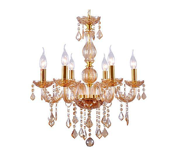 Red Coral Chandelier With 3 Lights: 3/4/5/6 Light Clear/Pink/Gold Crystal Chandelier Pendant
