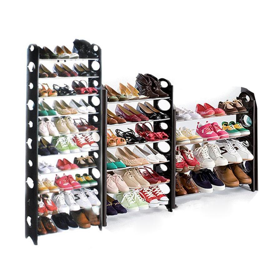 10 Tier Shoe Rack 30 Pair Home Wall Shelf Closet Organizer