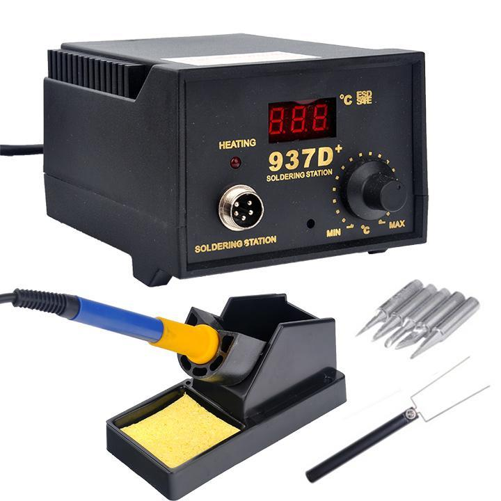 Jp Trampoline Parts: 937D+ SMD Soldering Hot Iron Station Digital Adjustable W