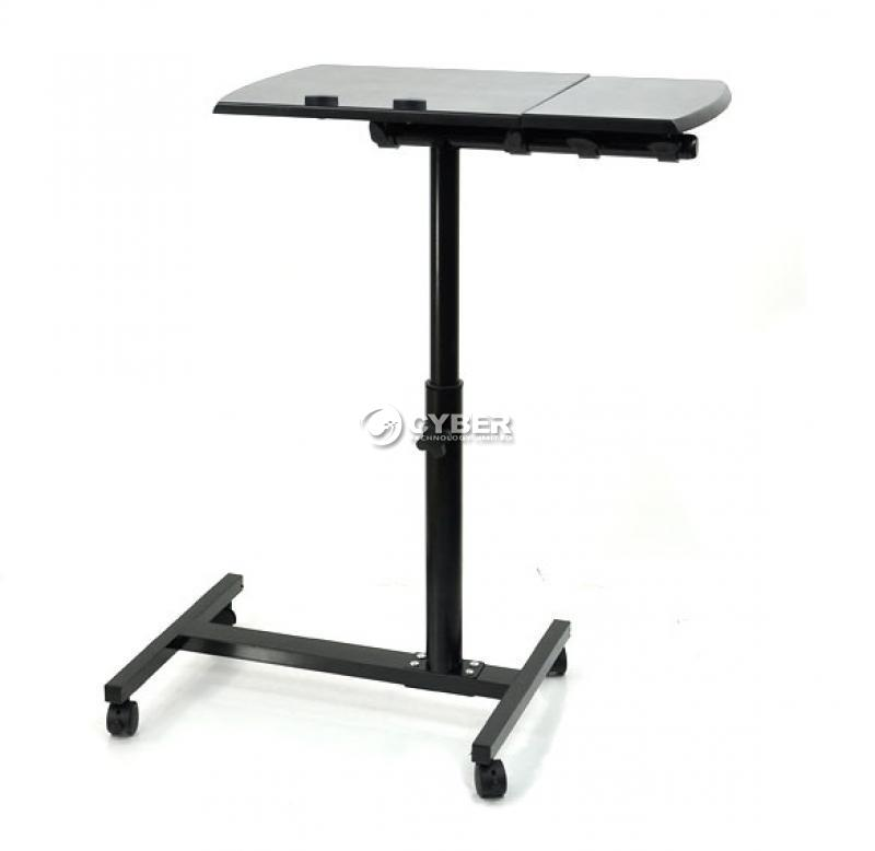 Angle Height Adjustable Rolling Laptop Desk Over Bed
