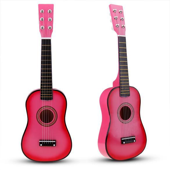 "New 23"" Pink Childrens Acoustic Mini Guitar with Free ..."